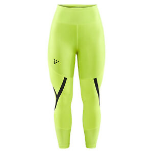 Craft Running Trousers Tight Asome High Waist Women's Yellow