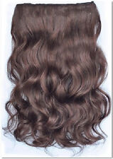 """24"""" Curly 1 piece Clip In Hair Extensions full head--Light Chocolate Brown"""