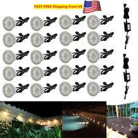 10/20X 45mm 12V Warm White Garden Yard LED Deck Rail Stair Soffit Kitchen Lights