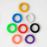 8PC Silicone Key Cap Covers Topper Keyring Bright Color Keychain Bly Braille N55
