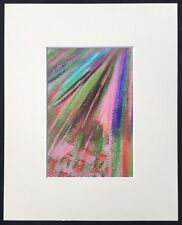 "Strobes original abstract mounted art print 10""x8"" G Burgess StIves Cornwall"