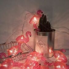 10 LED Flamingo String Night Light Pink Novelty Garden Battery Party Home Decor