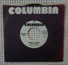 MEN AT WORK Down Under Rare Orig '81 COLUMBIA White Label Promo 45 w/Sleeve VG++
