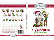 SANTA & HIS ELVES MULTI FORMAT MACHINE EMBROIDERY CD USING MYLAR PURELY GATES