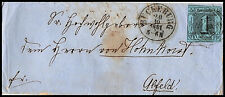 """T&T: Nr. 4 EF a. Brief m. """"320"""" BÜCKEBURG (Han.) n. Alfeld 1857, Mi 250.- (23)"""