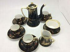 Noritake China Coffee set with 4 cups & saucers jug coffee pot and sugar bowl
