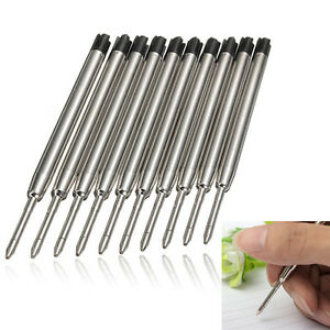 NEW 10PCS Black Ballpoint Refills for Parker Style Ink BLACK *FREE SHIPPING*