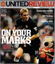 Football Programme>MAN UTD v DINAMO BUCHAREST Aug 2004 UCL