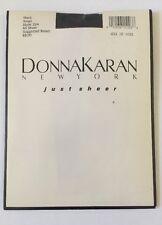 Donna Karan Pantyhose Size S Black All Sheer New