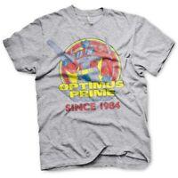 Optimus Prime Since 1984 Official Transformers Autobots Grey Mens T-shirt