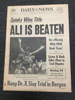 Muhammad Ali vs Leon Spinks I - Boxing - 1978 New York Daily News Newspaper
