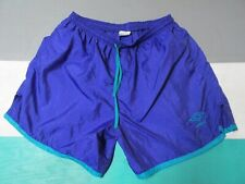 VTG Umbro Purple Green Soccer Shorts Adult XL Made in the USA