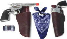 Kids Western Cowboy Toy Gun Holster Set w/ Belt & Bandana