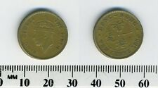 Hong Kong 1950 - 10 Cents Nickel Brass Coin - King George VI
