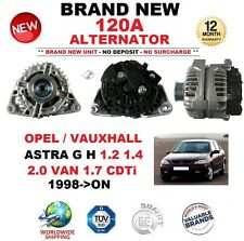 Per Opel Vauxhall Astra G H 1.2 1.4 2.0 Van 1.7 CDTI 1998-ON NUOVI 120 A Alternatore