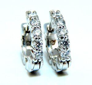 .36ct Natural Diamond Hoop Earrings 14 Karat Petite Girl's Prime