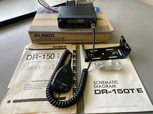Alinco DR-150E VHF / UHF trasceiver. Boxed with manual, bracket, mic
