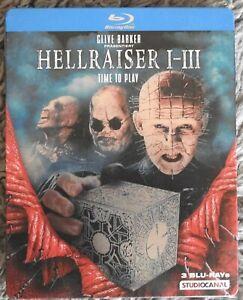 Hellraiser Trilogie Teil 1. 2. 3. Blu-ray Steelbook Uncut Wie Neu