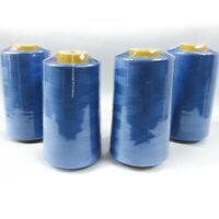 Perial Co 4 Cones of Polyester Threads for Sewing Quilting Serger Ocean Blue