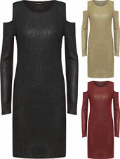 Clubwear Dresses for Women with Cold Shoulder