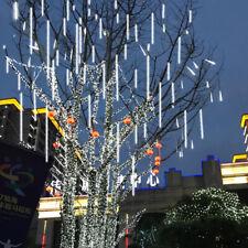 20cm 30cm 50cm Al Aire Libre Lluvia ducha de meteoritos 8 tubos de LED luces de cadena Navidad F