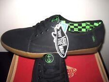 Vans Mens Costa Mesa Captain Fin Black Canvas Skate Boat shoes Size 13 NWT