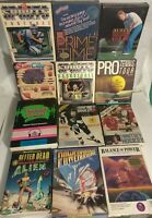 14 Boxed Commodore Amiga Game Lot - Alien City Power Basketball Hockey Baseball