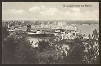 Dorset. Weymouth. Pavilion & Pier From The Nothe  - Vintage Printed Postcard