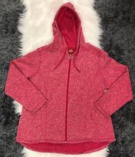Women's Dickies Pink Hooded Zip Up Fleece Lined Sz 2X Sweatshirt EUC K