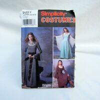 Renaissance Ren Faire Dress Simplicity Costume Sewing Pattern #9891 Sz 6-12