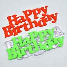 Cutter Mould Tools Plastic Happy Birthday Fondant Mold Birthday Cake Decorat 1PC