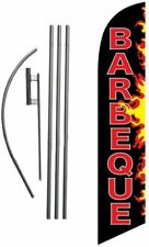Barbeque Bbq Flames Feather Banner Swooper Flag Sign With Flag Pole And