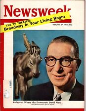 NEWSWEEK Feb. 27, 1956  Estes Kefauver, Woman Executives, Broadway Shows on TV