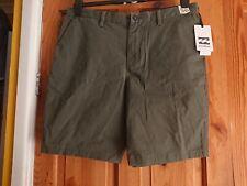 "BILLABONG New Order stretch military Shorts  36"" Waist BNWT"