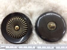 45 mm 1 3/4'' inch PEARL  BROWN  GOLDEN BUTTON FOR SABLE FOX MINK FUR COAT n2