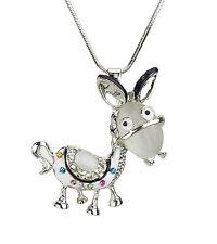 Kette Esel silber lange Halskette mit großem Anhänger Donkey by Ella Jonte new