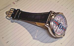 Martini Lancia Souvenir Tribute Watch, Retro 1980 - 90's Vintage Round Dial.