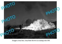 OLD 6 x 4 PHOTO 1952 ARMY FLAME THROWER TRAINING ENNOGERA ARMY BASE
