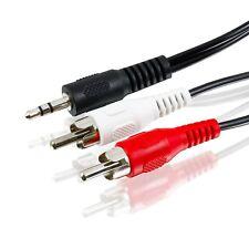 10m Audio Kabel 3,5mm Klinke auf 2x Cinch - RCA zu Jack, 2x Chinch zu AUX Klinke