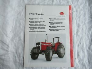 Massey Ferguson MF 375 -2/4 tractor specification sheet brochure