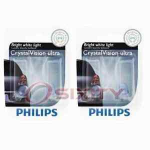 2 pc Philips License Plate Light Bulbs for Ford Aerostar Aspire Country me