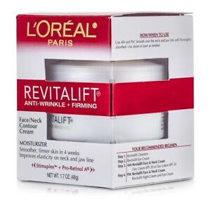 NEW L'Oreal RevitaLift Anti-Wrinkle + Firming  Face/ Neck Contour Cream 48g