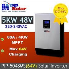 80A MPPT solar charger built 5kva 5000w 48V 230v Solar power inverter