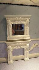 dolls house accessories white cherub mirror/matching fireplace  DIY 1.12th