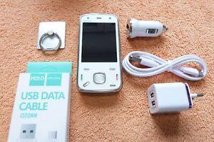 Nokia N86 * 8GB Weiss + EXTRAS  SEHR GUT * Slider Symbian HSDPA GPS 8MP  0