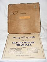 ANTIQUE DIAGRAMMATIC DRAWINGS BOOKLET TUBE TRAINS, HOUSES OF PARLIAMENT