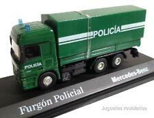 MERCEDES BENZ FURGON POLICIA CAMION TRUCK DIECAST 1/72
