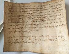 Medieval Manuscript 1327 Vellum Parchment Spain