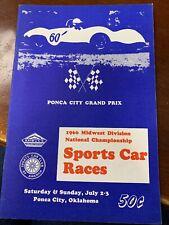 1966 Ponca City Grand Prix Sports Car Races Program Ambucs