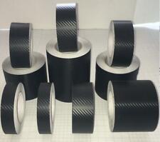 3D Texture Carbon Fibre Black Vinyl Tape, Automotive Grade Adhesive Wrap Decal